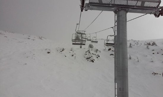 Taos Ski Valley, NM: Going up to top of Kachina