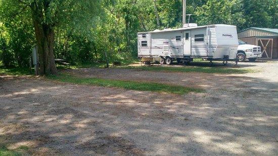 De Pere, WI: Campsite 32, where our camper is