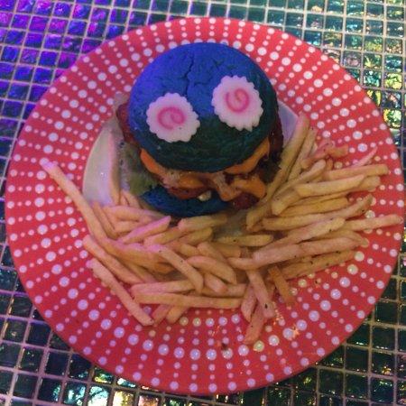 Blue Monster Burger Picture Of Kawaii Monster Cafe