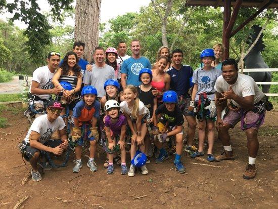 Santa Cruz, Kostaryka: Canopy zip Champs