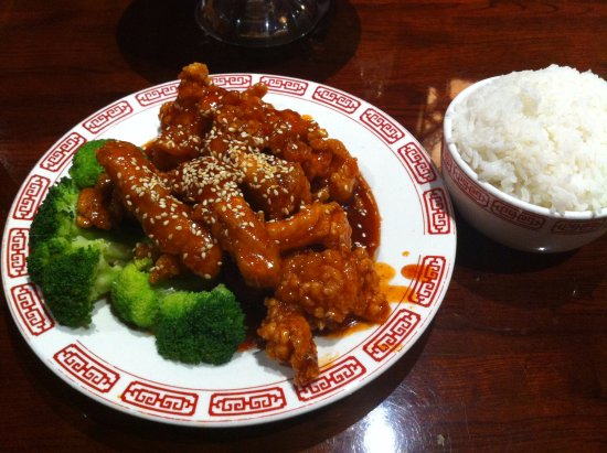 Anderson, Carolina Selatan: Sesame Chicken and white rice