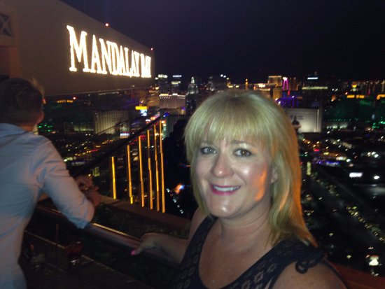 Mandalay Bay sign viewed from Foundation Room - Picture of ...