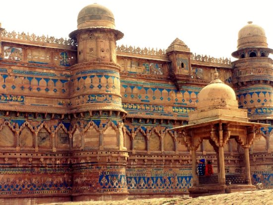 Gwalior Fort : The turquoise mosaic