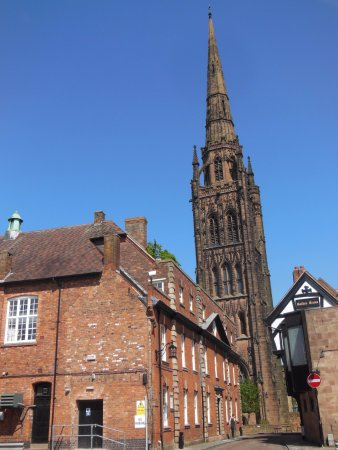 Premier Inn Coventry City Centre (Earlsdon Park) Hotel: St. Michael's West Tower and spire, which survived the bombing and fire