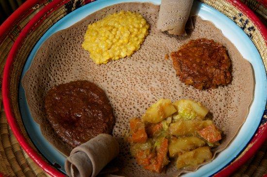 Queen of Sheba Ethiopian Cuisine: Vegetarian Combination Plate