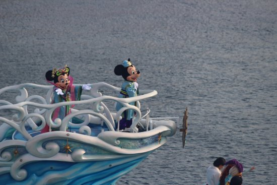 Tokyo DisneySea Hotel MiraCosta: 部屋からの眺め。
