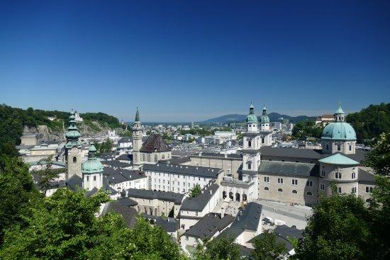 Salzburgo, Austria: Blick über Salzburg vom Festungsberg
