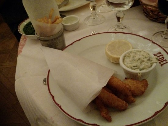 Fish and chips Zedel style