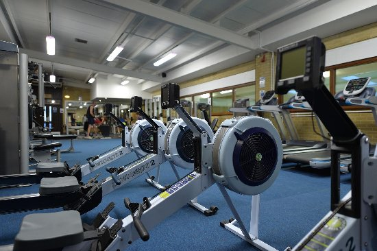 Ampleforth, UK: Work out in the fitness suite