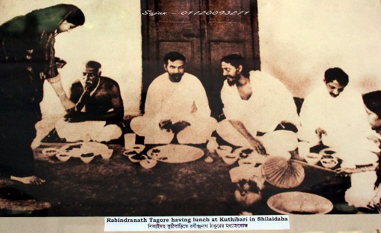 Kushtia, บังกลาเทศ: Rabindranath Tagore taking luncheon