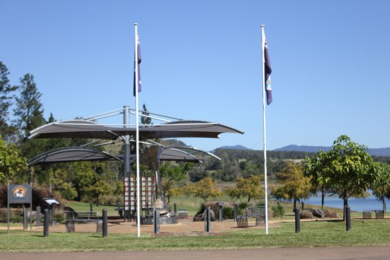 Flags at Avenue of Honour Yungaburra QLD