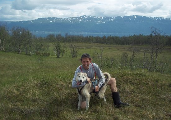 Arctic Adventure Tours - Day Tours: My husky pal, Ruskin.. (also, scenery and the rubber boots, provided by Arctic Adventures)