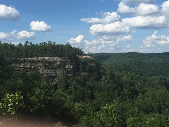 Slade, KY: View from under Natural Bridge