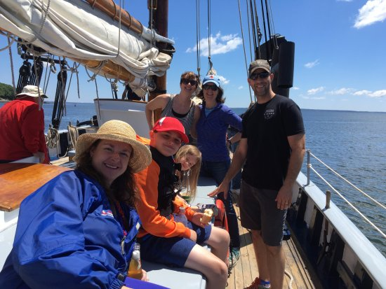 Belfast, ME: Some of our family cruising on the Timberwind.