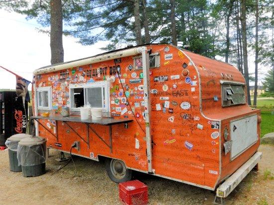 Bethel, Maine: The famous orange trailer