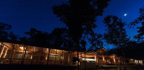 Alta Floresta, MT: vista de noite da área socia;