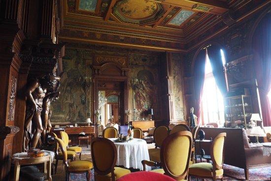 Château de Villersexel : Ein Zimmer, das man auf der Schlossführung besichtigen kann.