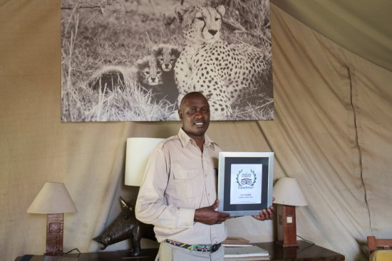 Manager Harry just received Trip Advisor Travellers ChoiceAward at Nairobi Tented Camp