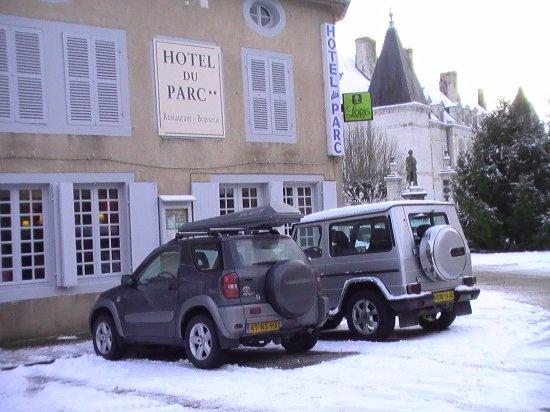 Arc-en-Barrois, Francia: le Parc in de winter