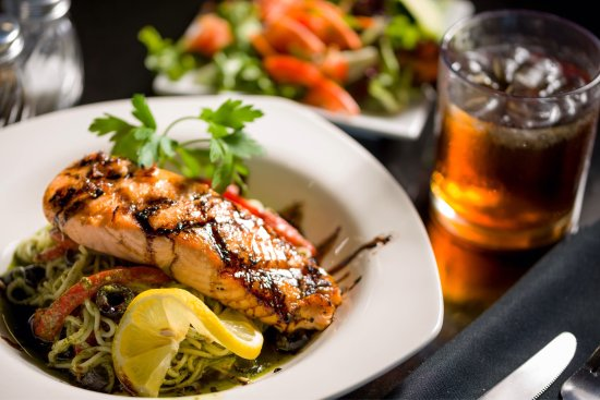 Oroville, CA: Grilled Salmon with Balsamic Glaze