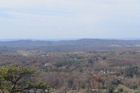 Dalton, GA: View from the top towards Chattanooga