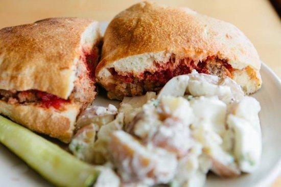 Westport, MA: Ten Cousins Brick Oven - Meatball Brickini