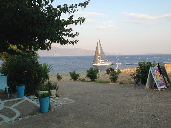 Kastos Island, Greece: Windmill restaurant bar view