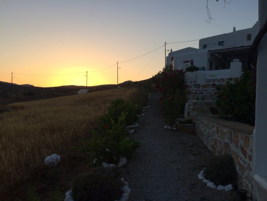 Kalderimi: The beautiful sunset behind the hill...