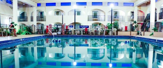 Suite Dreams Hotel features the largest pool of any hotel in Mattoon