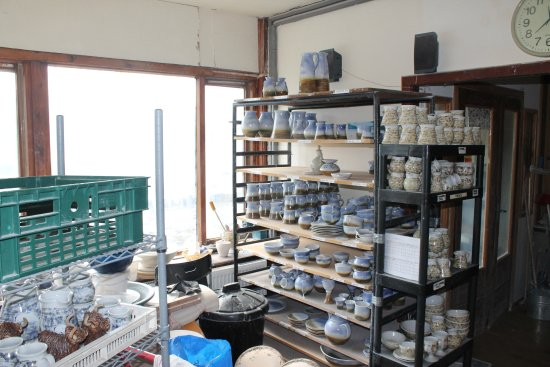 Uig Pottery: Pottery in the making in the workshop