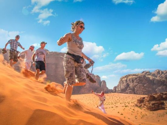 Wadi Rum Sky - Tours and Camp: enjoyng dunes