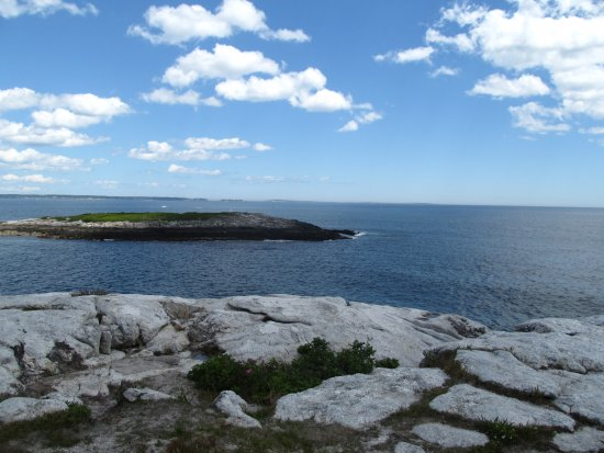 Georgetown, ME : On top of the rocks looking out on the ocean.