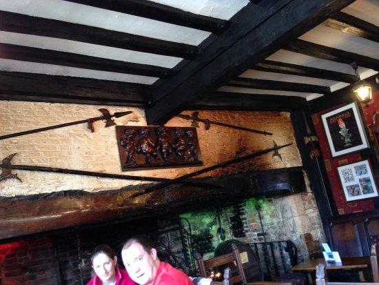 Giants Fireplace Bar at The Mermaid Inn: fireplace