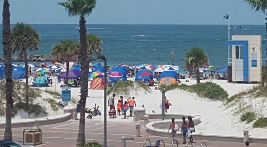 "Beachwalk Inn: View from our ""balcony"" (walkway outside our room on 3rd floor)"