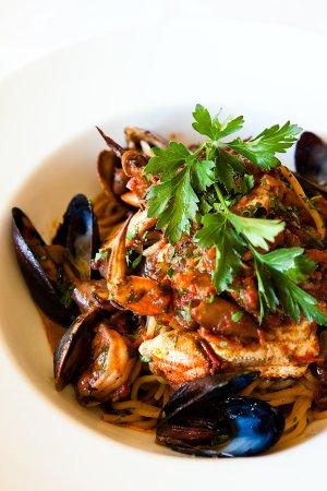 San Mateo, CA: Local Seafood - Cioppino with fresh pasta