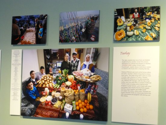 Idaho Museum of Natural History: The photo exhibit for a family in Turkey purchasing weekly groceries.