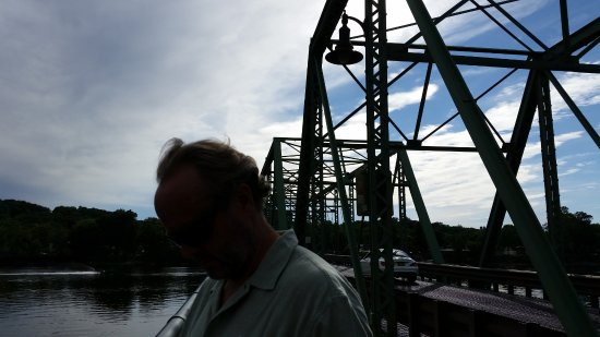 New Hope-Lambertville Toll Supported Bridge: Bridge from Lambertville to New Hope.