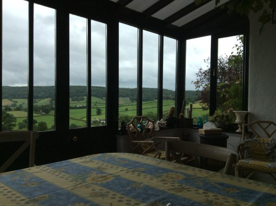Colyton, UK: View from the breakfast / dining room