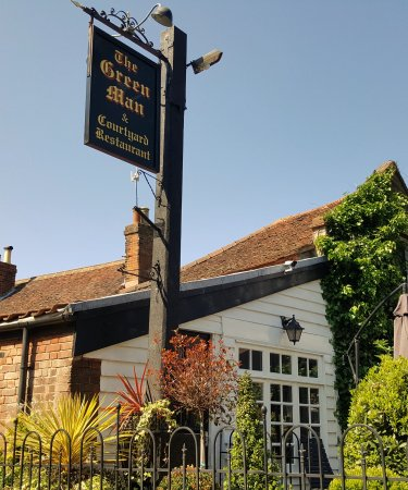 Chipping Ongar, UK: The Green Man Sign!