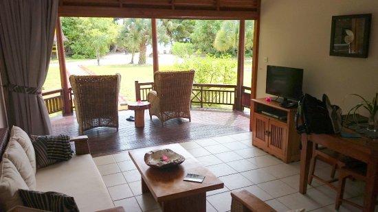 Les Villas d'Or: Ausblick aus dem Wohnzimmer Richtung Strand