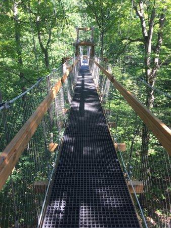 Kirtland, OH: Canopy walk=short swaying walk in a triangular path of 500 feet.