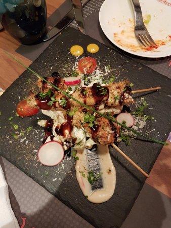 Al Wakra, Qatar: Chicken BBQ sticks