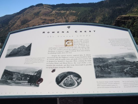 Mosier, OR: informational sign