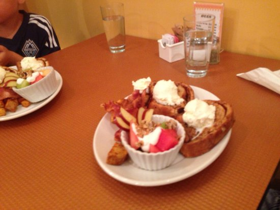 Tripke Bakery & Cafe: Tuesday brunch. Benny, Reuben, and French toast