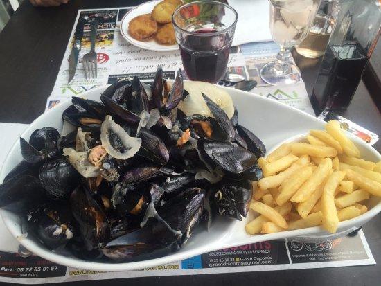 St Chamas, Frankrijk: qqs moules frites ^^
