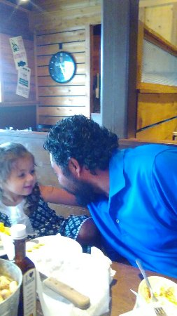 Bryant, AR: Lunch with daddy.