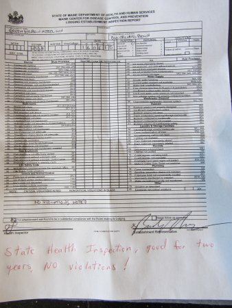 Green Dolphin Motel : Health Inspection Score 100