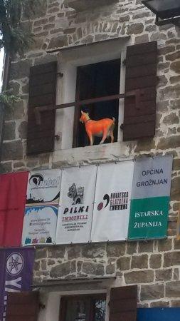 Groznjan, Croácia: Коза - хозяйка Истрии