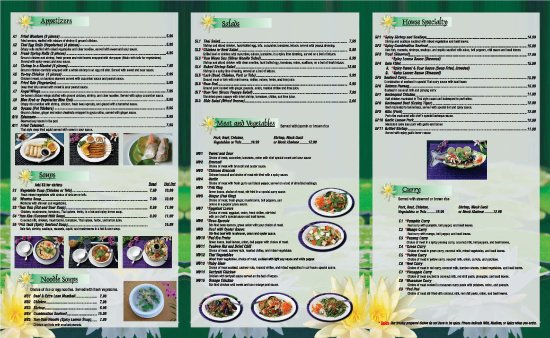 Thai Kitchen S Menu Picture Of Thai Kitchen Temecula Tripadvisor
