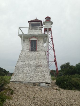Lighthouses at Hecla Island